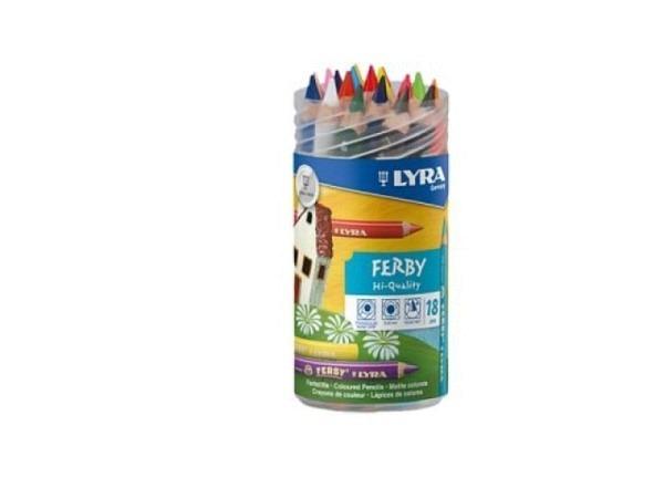 Farbstift Lyra in Schraubdose mit 18 Farben