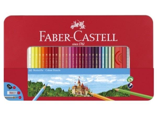 Farbstift Faber-Castell Classic Colours 60er Set Blechdose