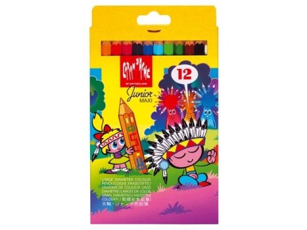 Farbstift Caran dAche Fancolor Maxi 12er Set Karton