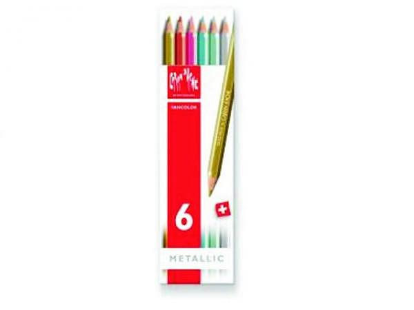 Farbstift Caran dAche Fancolor 6er Set metallic