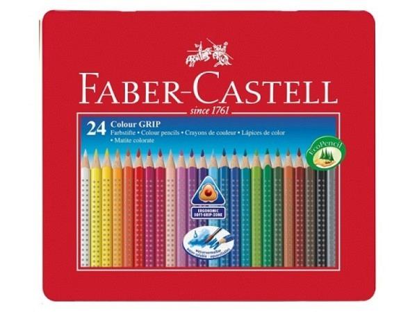 Farbstift Faber-Castell Colour Grip 24er Metalletui
