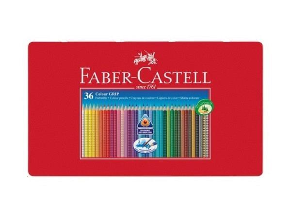 Farbstift Faber-Castell Colour Grip 36er Metalletui