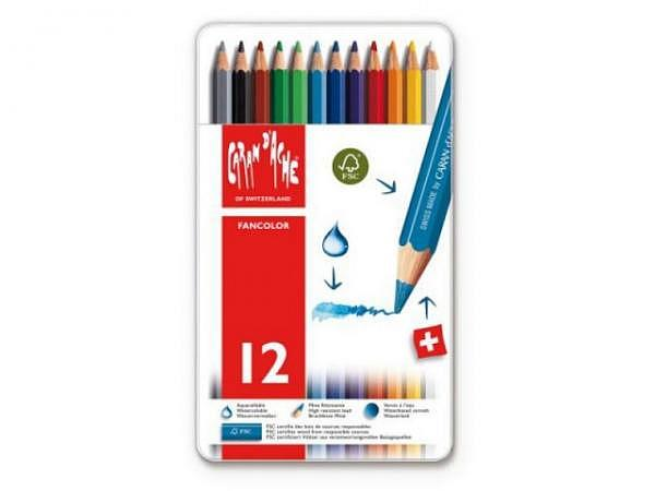Farbstift Caran dAche Fancolor 12er Set Metall