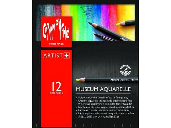 Farbstift Caran dAche Museum Aquarelle Set 12Stk