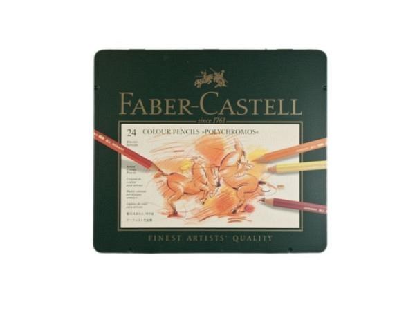 Metallschachtel Faber-Castell Polychromos 24er leer grün