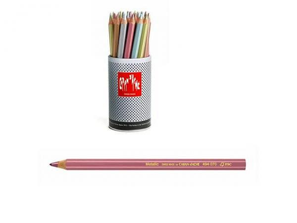 Farbstift Caran dAche Metallic, in fünf Farben assortiert