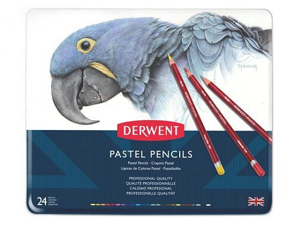 Farbstift Derwent Pastell Set 24er Metalletui