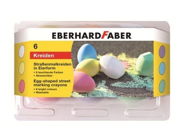 Kreide Eberhard Faber Strassenmalkreide in Eier-Form