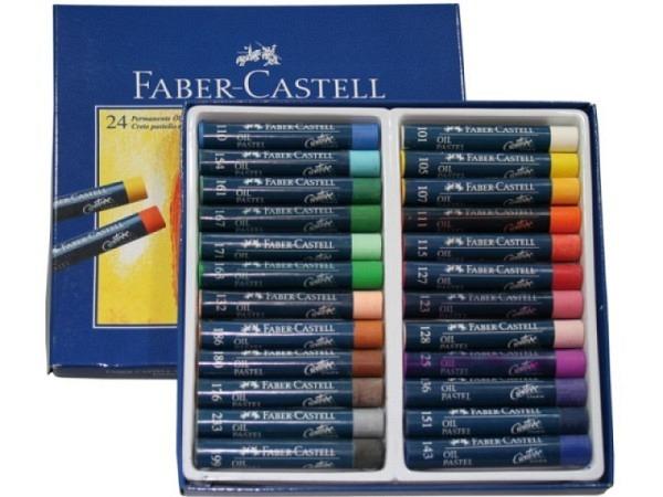 Oelpastellkreiden Faber-Castell 24er Set, im Kartonetui