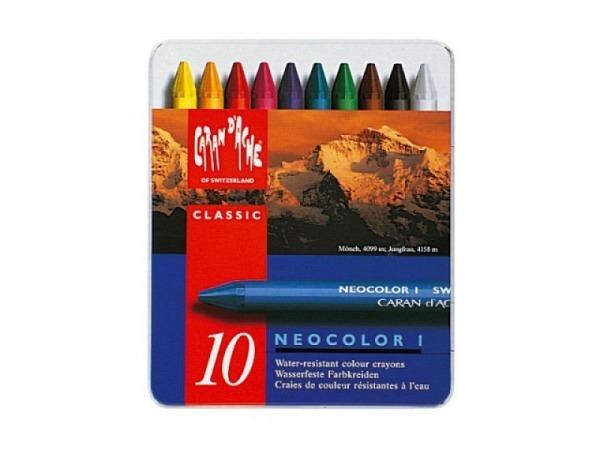 Wachskreide Caran dAche Neocolor I 10er Set, 9x105mm