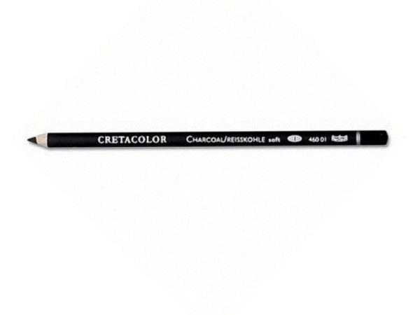 Kohlestift Cretacolor Holz weich 460 01 in Holz gefasst