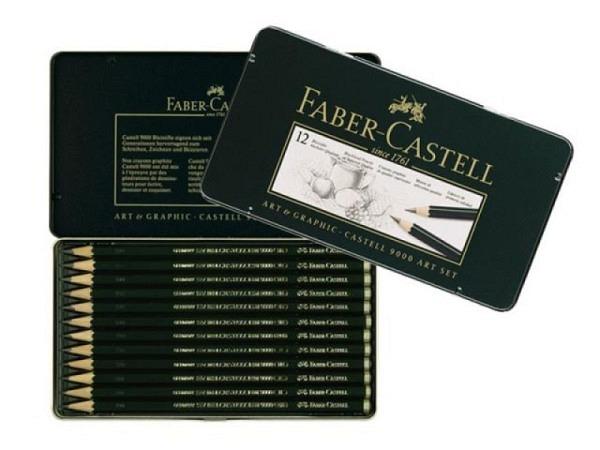 Bleistift Faber-Castell 9000 12er Art-Set 8B-2H