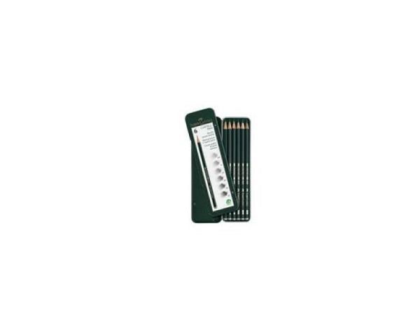 Bleistift Faber-Castell 9000 6er Set HB, B, 2B, 4B, 6B, 8B,