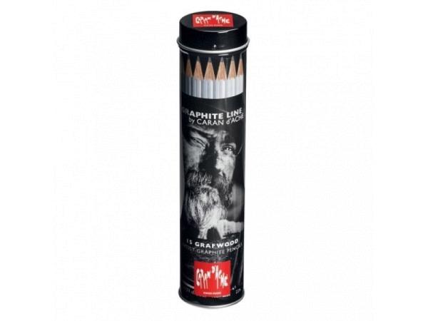 Bleistift Caran dAche Grafwood 775 Set 15er in Metalldose