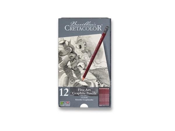 Bleistift Cretacolor Set 12Stk Im Etui Künstler-Graphitstift