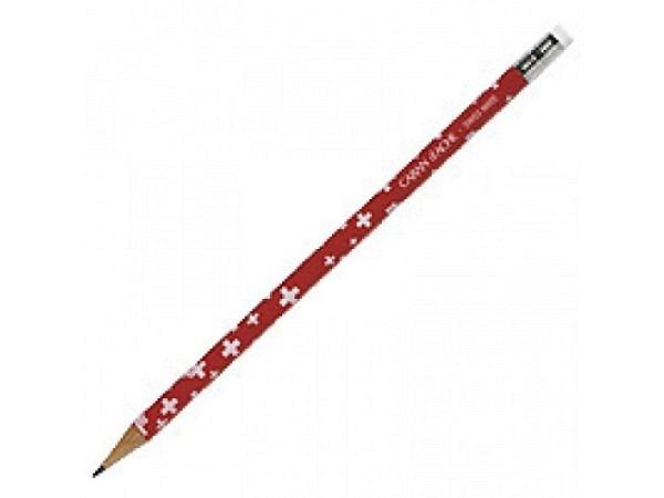 Bleistift Caran dache Schweizerkreuz rot mit Radiergummi