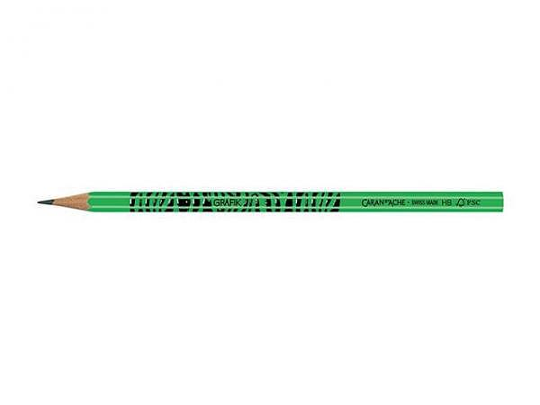 Bleistift Caran dAche Grafik Fluo Zebra grün, Stärke HB