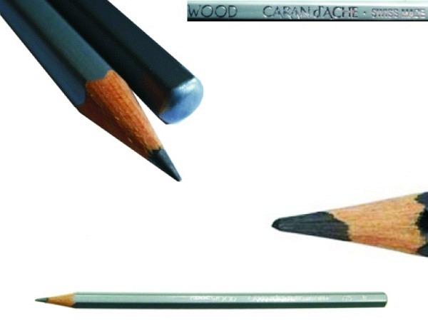 Bleistift Caran dAche Grafwood 775 2H, sechseckiger Schaft