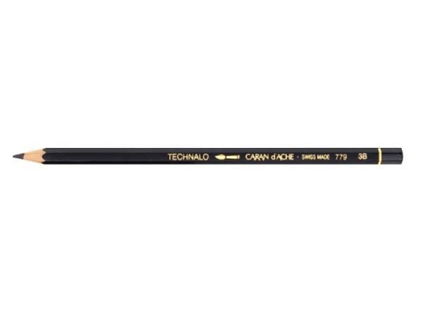 Bleistift Caran dAche Technalo 779 3B, sechseckiger Schaft