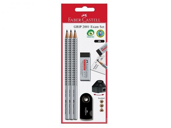 Bleistift Faber-Castell Grip 2001 Exam Set black