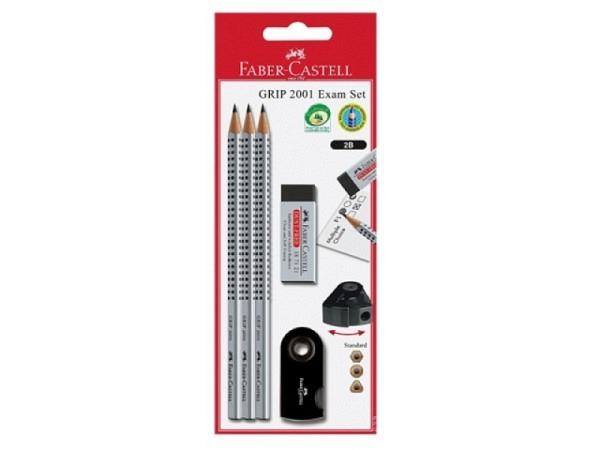 Bleistift Faber-Castell Grip 2001 Exam Set black