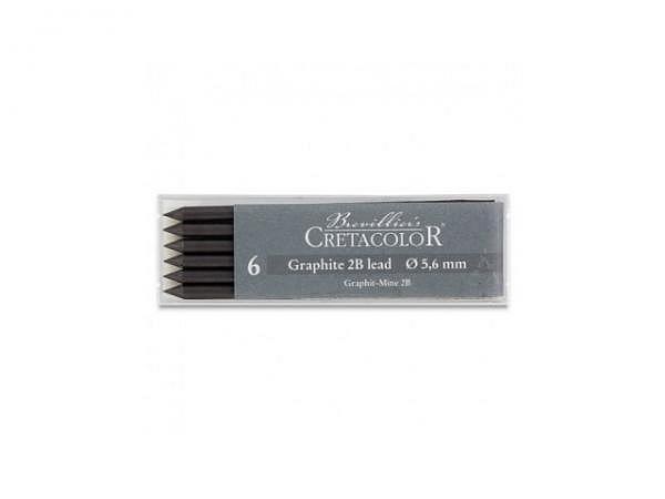 Mine Cretacolor Graphitmine 2B, 5,6mm Set 6Stk.