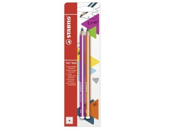 Bleistift Stabilo Trio Thick HB pink und orange