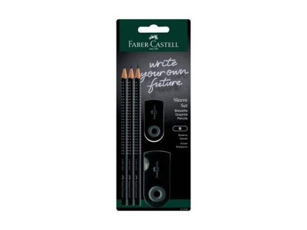 Bleistift Faber-Castell Grip 2001 Set grün Sleeve