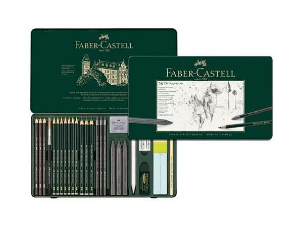 Zeichenstift Faber-Castell Pitt Graphite Set 26tlg