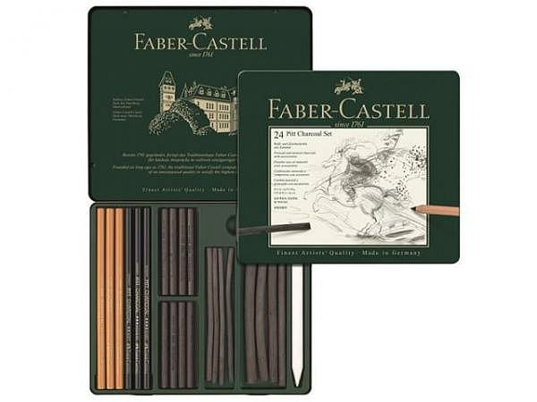 Zeichenkohle Faber-Castell Pitt Charcoal Set 24tlg