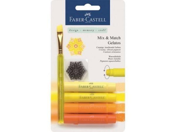 Aquarellkreide Faber-Castell Gelatos 4er Set gelb