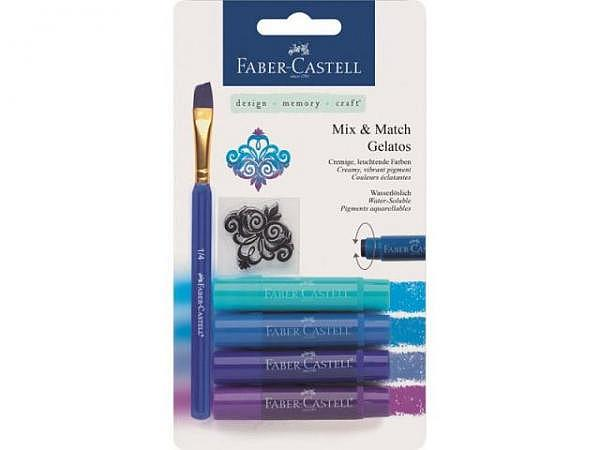 Aquarellkreide Faber-Castell Gelatos 4er Set blau