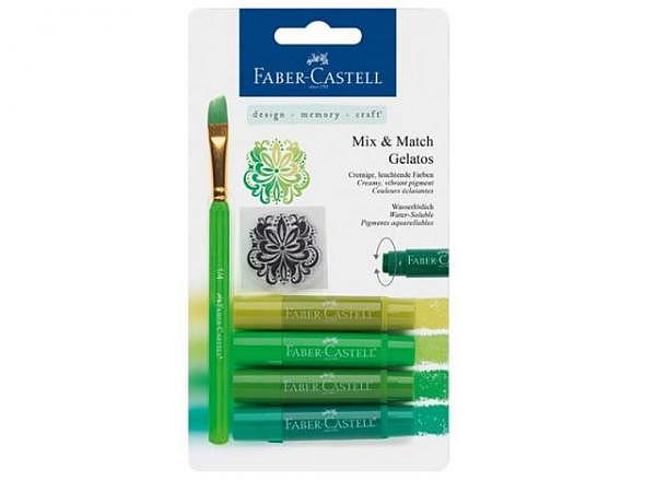 Aquarellkreide Faber-Castell Gelatos 4er Set grün