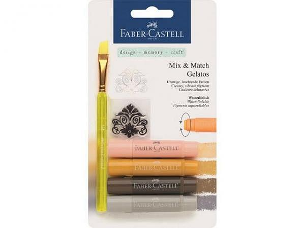 Aquarellkreide Faber-Castell Gelatos 4er Set neutral