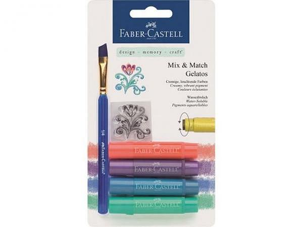 Aquarellkreide Faber-Castell Gelatos 4er Set metallic