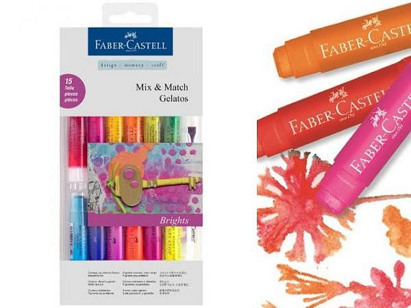 Aquarellkreide Faber-Castell Gelatos 15er Bright