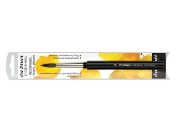 Pinsel Nylon Stiel gelb rund 0 rund spitz