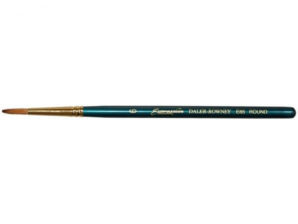 Pinsel Daler-Rowney Expression E 85 Gr. 6, rund synthetisch