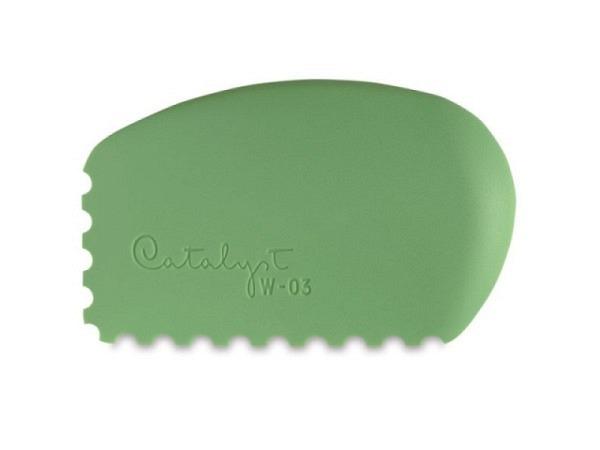 Gummipinsel Catalyst Wedge 03 grün aus Silikon