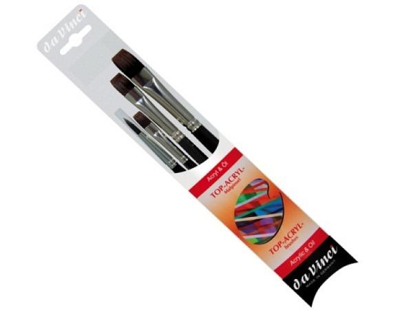 Pinselset da Vinci Top-Acryl Malpinselset mit kurzen Stielen