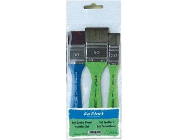 Pinselset da Vinci 3er Set breite Pinsel grün/blau
