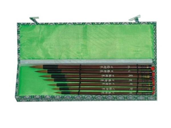 Pinsel China Conda Set 7tlg. Bambusstiel, Wieselhaare