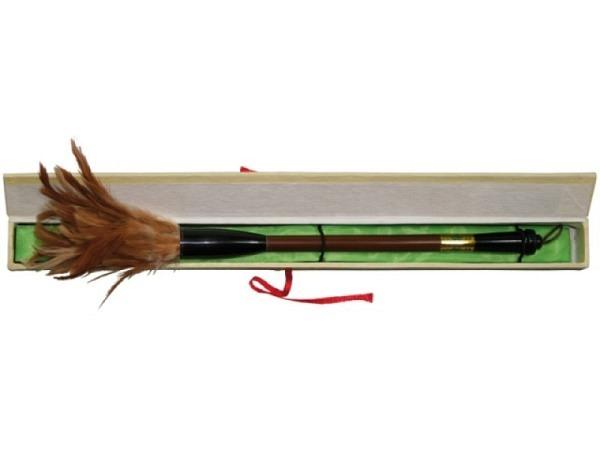 Pinsel China Hahnenfedern 35cm lang, Schwanzfedern vom Hahn