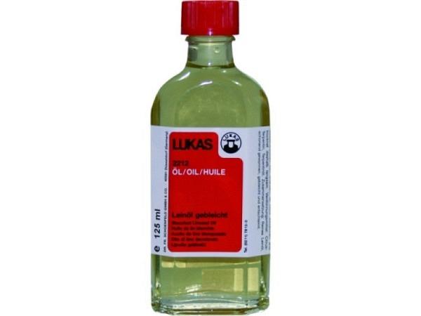 Leinöl gebleicht Lukas 2212 125ml, Mal- und Bindemittel