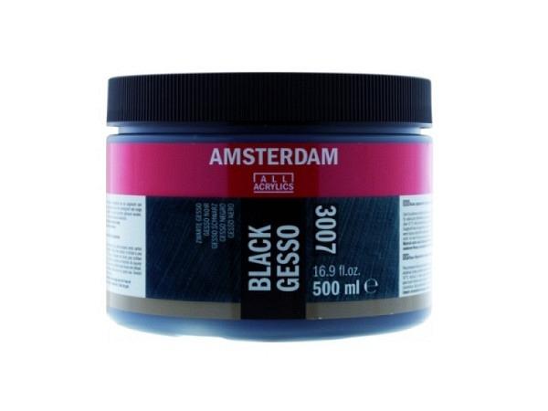 Gesso Primer Talens Amsterdam 007 schwarz 500ml