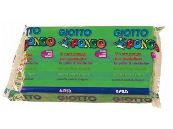 Knetmasse Giotto 500g hellgrün leichtes Plastilin pflanzlich