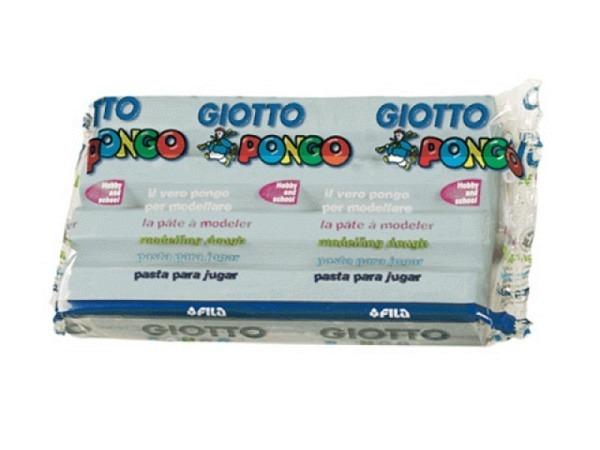 Knetmasse Giotto 500g grau leichtes Plastilin, pflanzlich