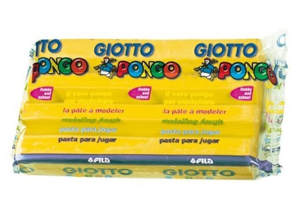 Knetmasse Giotto 500g gelb leichtes Plastilin, pflanzlich