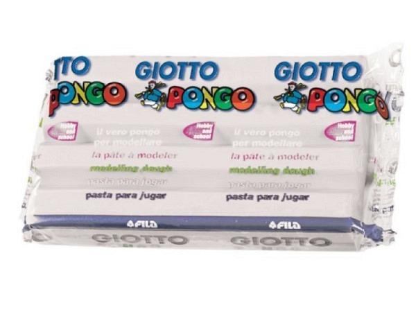 Knetmasse Giotto 500g weiss leichtes Plastilin, pflanzlich