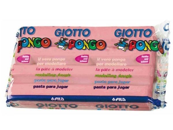 Knetmasse Giotto 500g rosa leichtes Plastilin, pflanzlich
